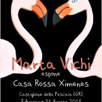 Locandina Mostra personale Casa Ximenes 2013