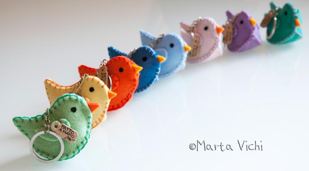 Uccellini portachiavi