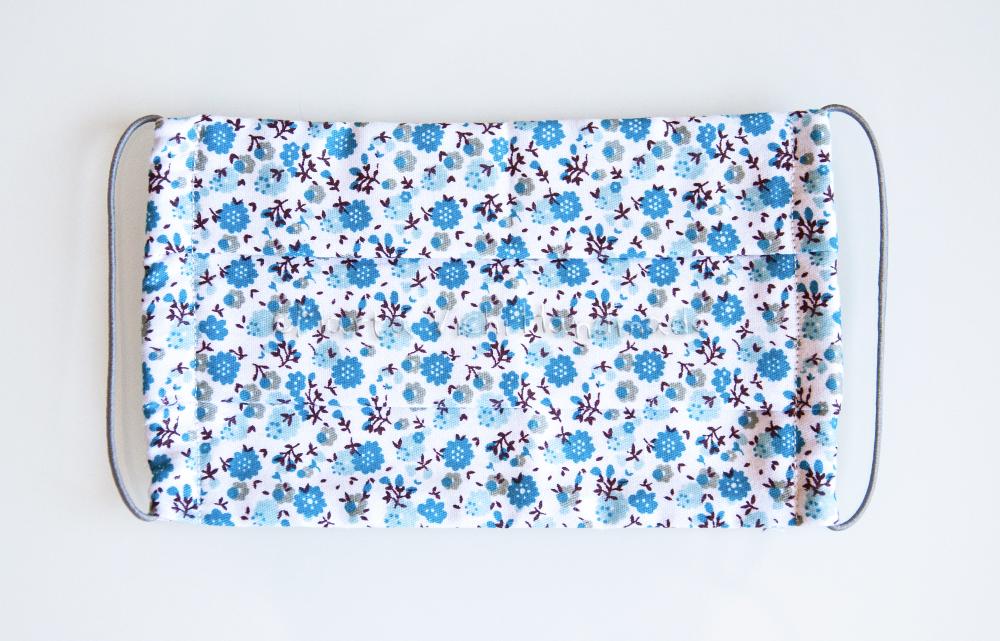 Mascherina I fiorellini azzurri