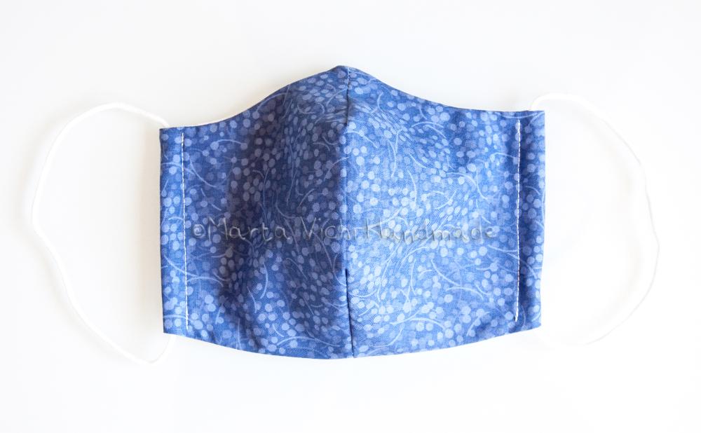 Mascherina II Azzurra rami
